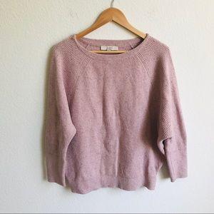 Loft Blush Pink confetti Sweater